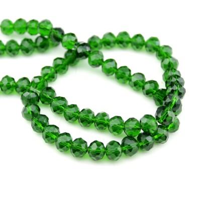 Стеклянные бусины D=8 Зелёные #11572