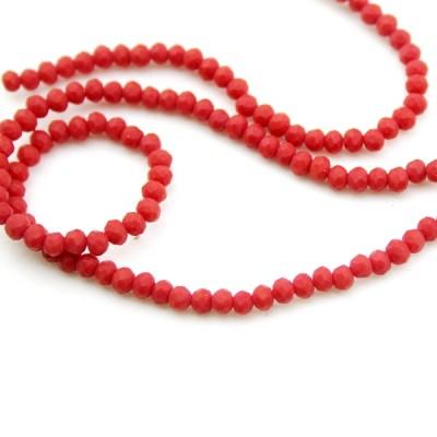 Стеклянные бусины D=3 Красные #11591