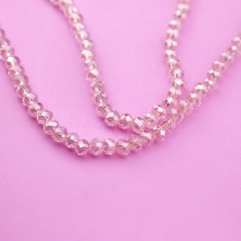 Стеклянные бусины D=3,6 Розовые #11595
