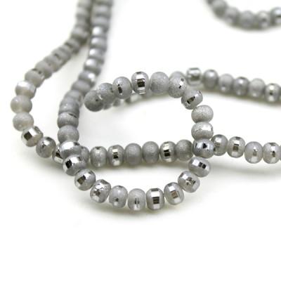 Стеклянные бусины D=5 Серебро #6113