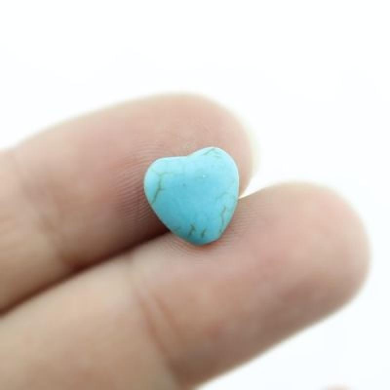 Бусины Бирюза Сердечки 10х5 1 шт #2071