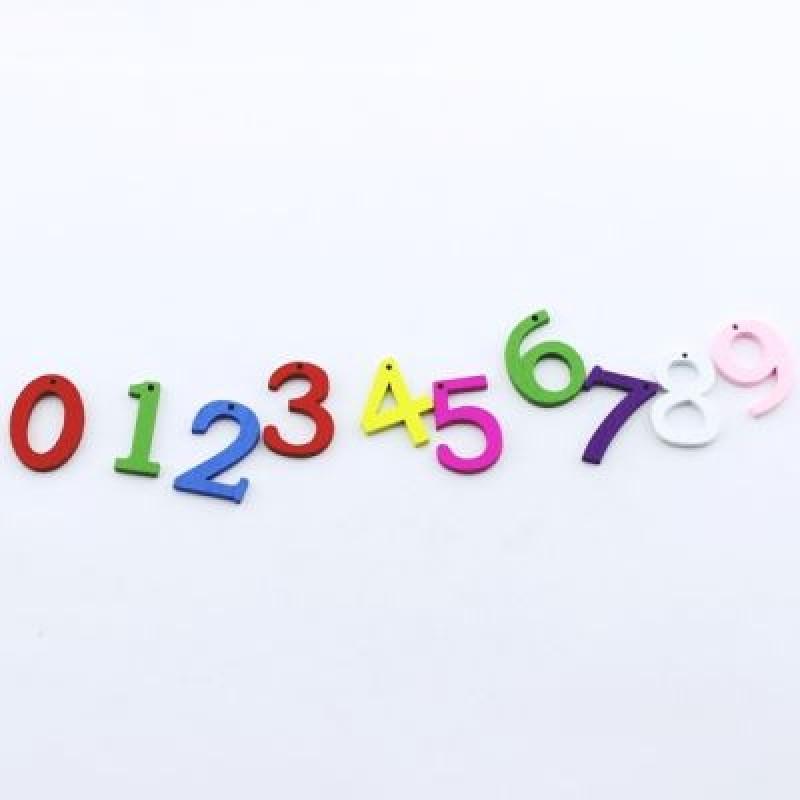 Подвеска Цифры МИКС 21х15х2,5 мм #2130