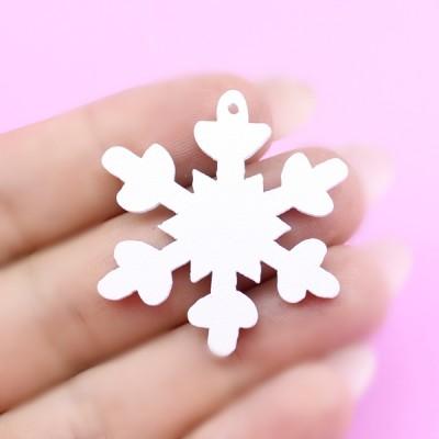 Подвеска Снежинка D=32мм #5860
