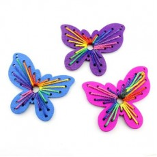 Бабочка с нитками 65х60 МИКС #4066