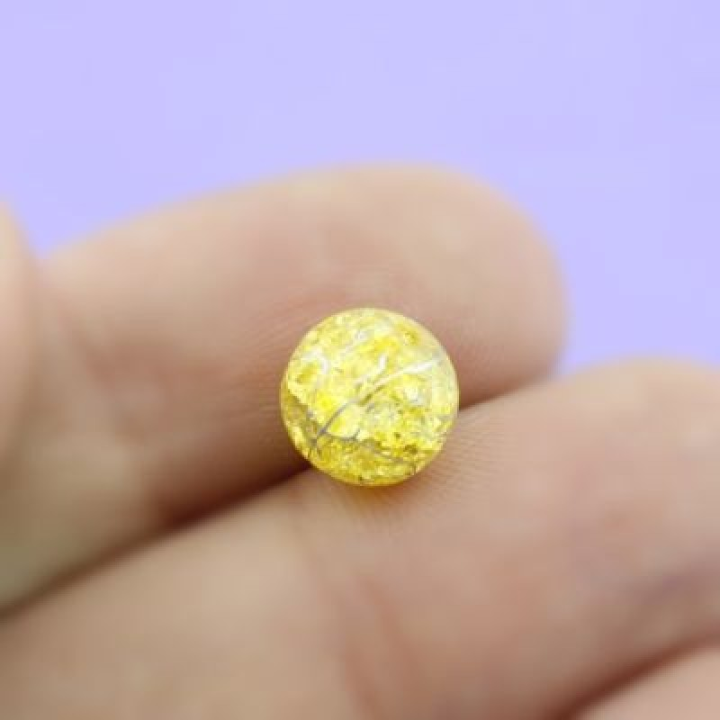 Бусины Искусственный кварц Золотой D=8 мм 8 шт #1962