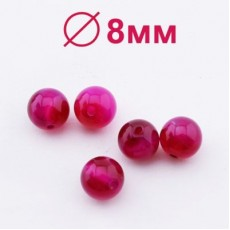 Бусины Агат А Фиолетовые D=8 мм 5 шт #2344