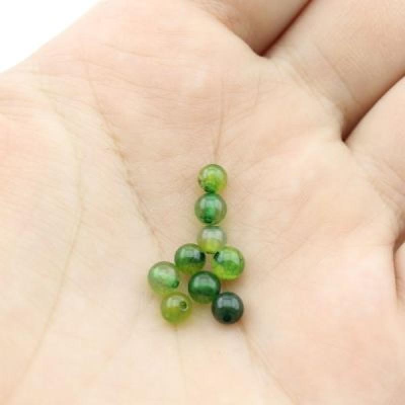 Бусины Агат Зеленые D=4 мм 20 шт #2349