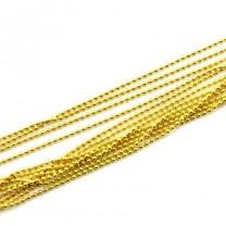 Цепочка шариковая D=1,8 мм Золотая 1 м #2564