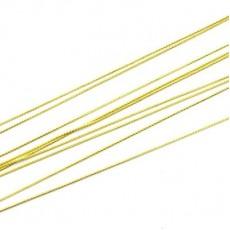 Цепочка 1 мм Золотая 1 м #2567
