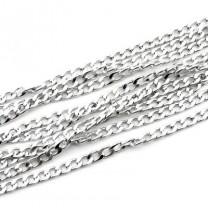 Цепочка 10х6 мм Серебряная 1м #2576