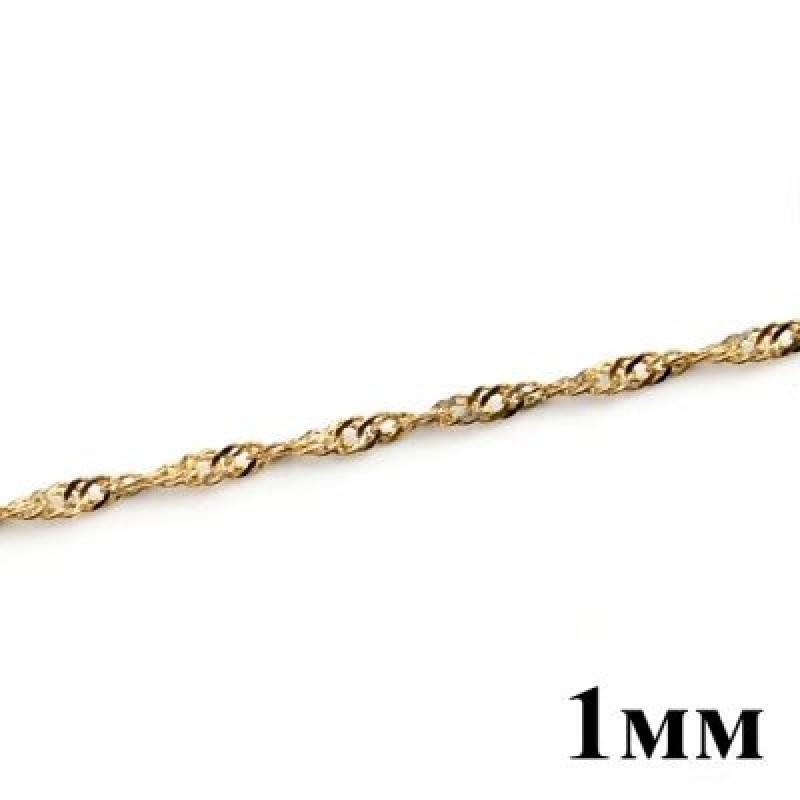 Цепочка 1мм Золотая Блестящая #4191