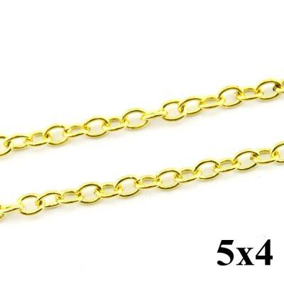 Цепочка 5х4 Золотая #4197