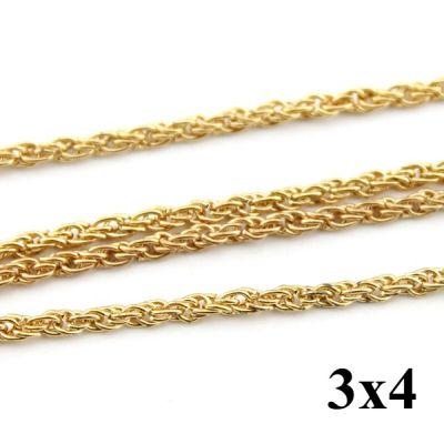 Цепочка двойная 3х4 Золотая #4216