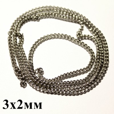 Цепочка 3х2 Серебрянная #5796