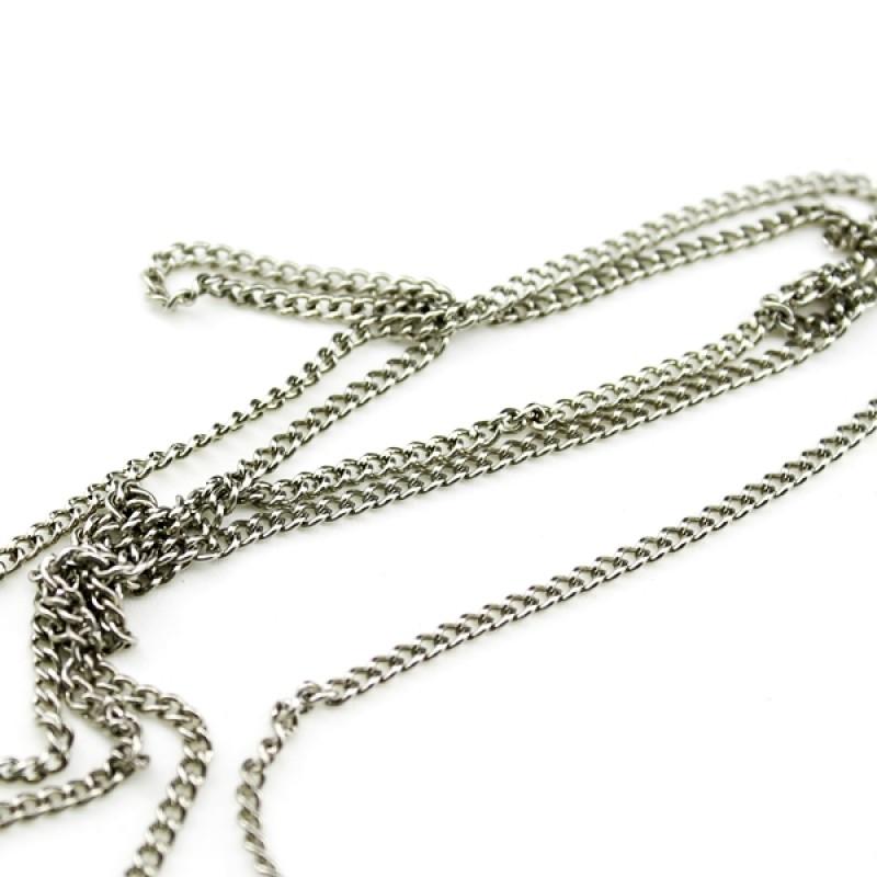 Цепочка 2,5х2мм Серебрянная #2888