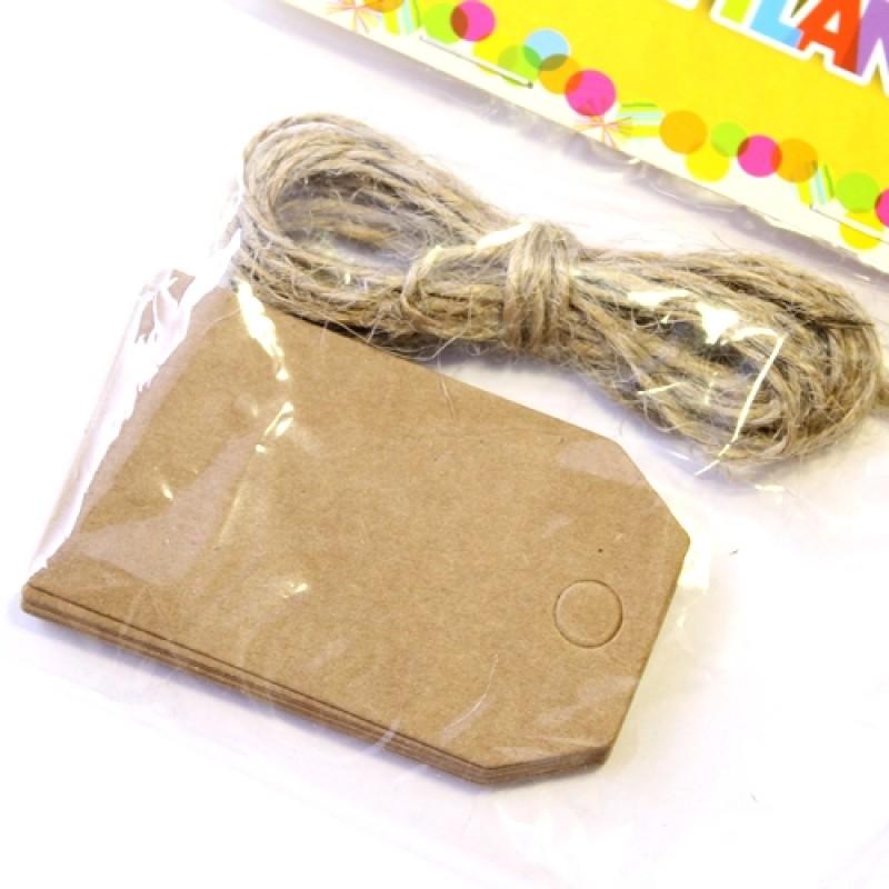 Набор Бирка с верёвкой 12шт #5103