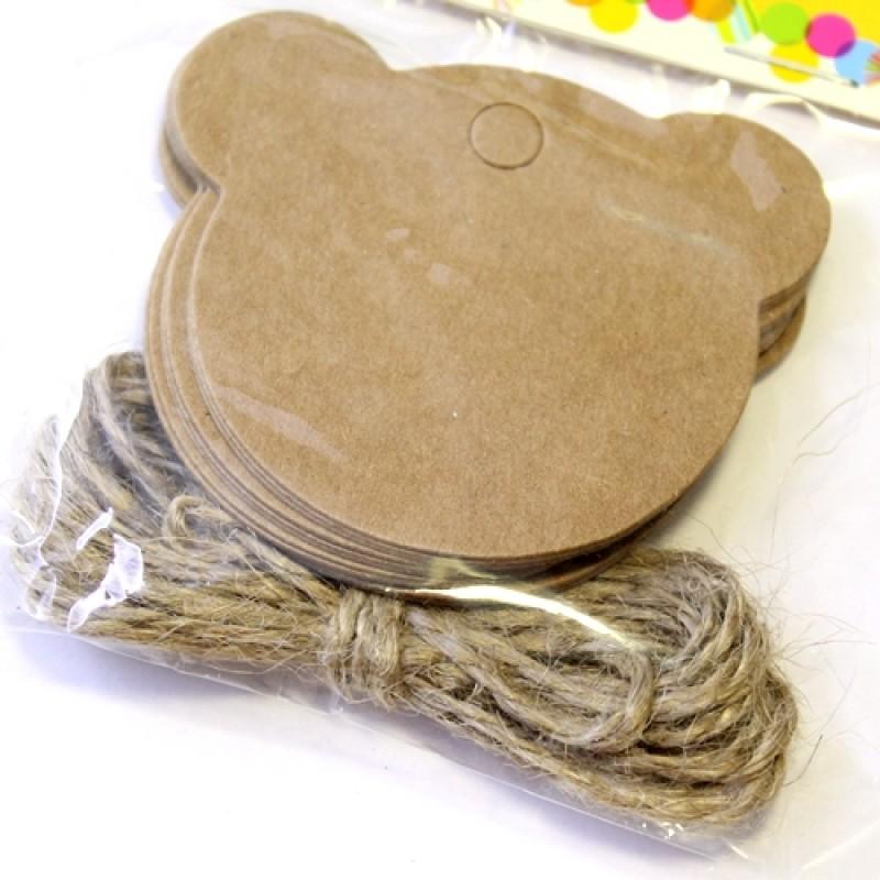 Набор Мишка с верёвкой 12шт #5106