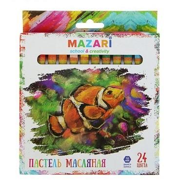 Пастель масляная 24 цвета MAZARi Safari #10267