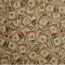 Бумага крафт (двухсторонняя) 74х 52см Доллар #10476