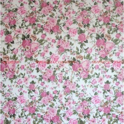 Бумага упаковочная 75х 52см Цветы #10480