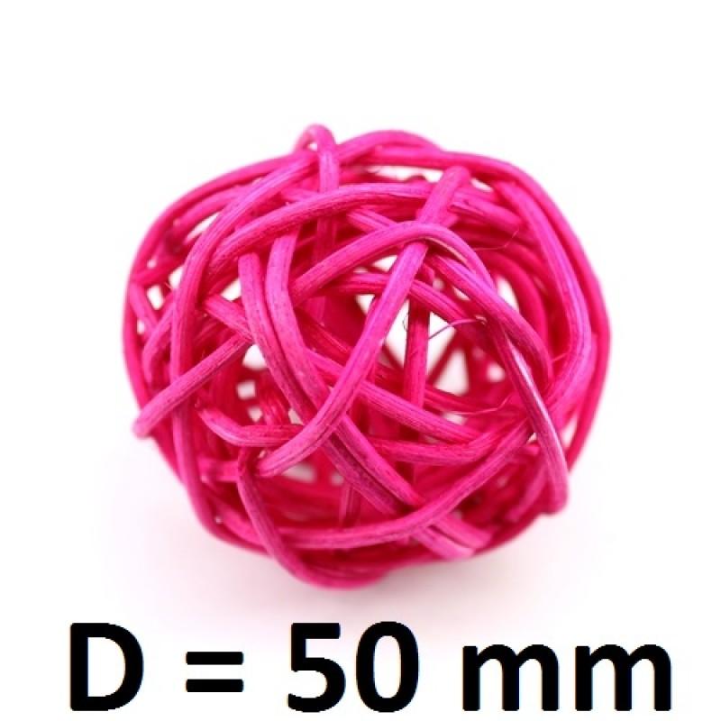 Ротанговые шарики D=50мм МИКС #1040