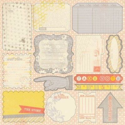 Стикеры 20х30 Authentique Elements Beyoutiful 1 лист #10084