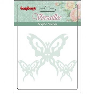 Акриловые украшения Бабочки 3 шт #5875