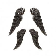 Набор ангельских крыльев серебро 4шт #10100