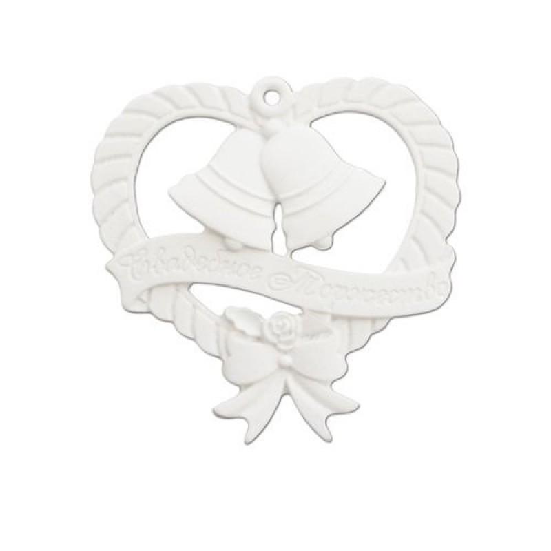 Камея Сердце и колокольчики #10108