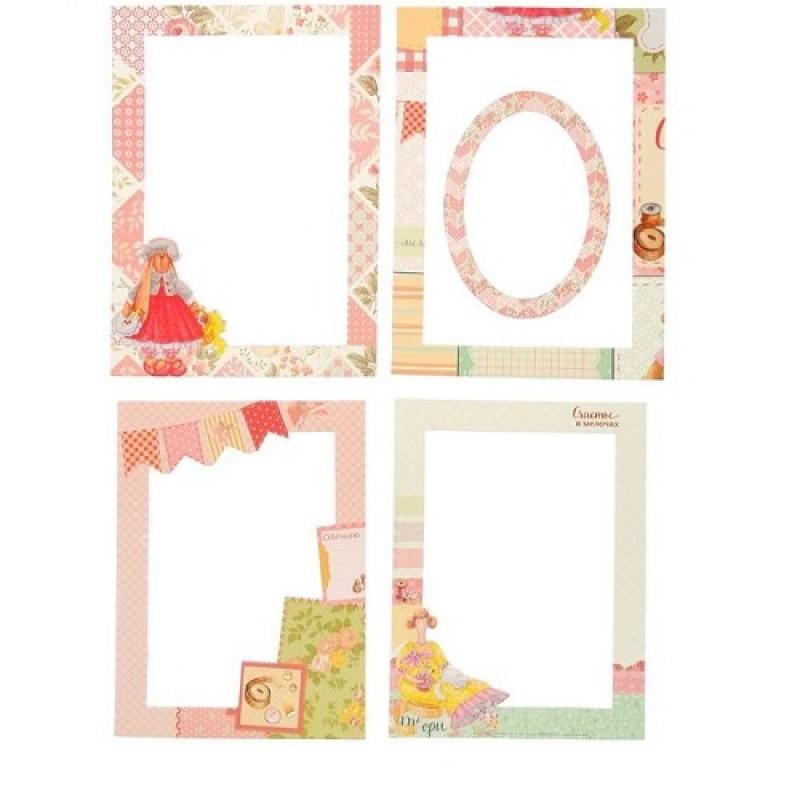 Набор декоративных рамок из картона 5шт #10228