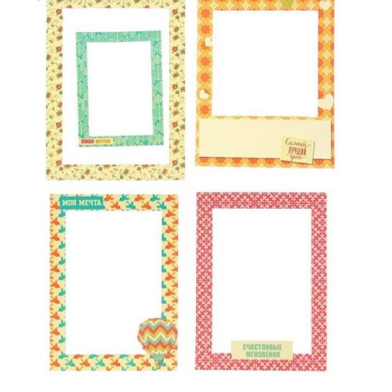 Набор декоративных рамок из картона 5шт #10229
