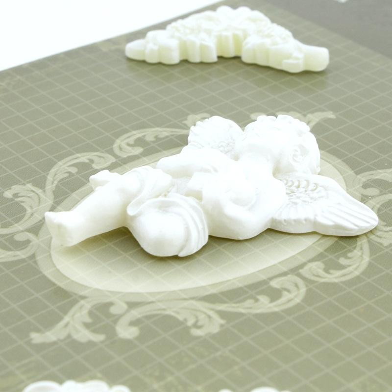Декоротивные 3D элементы 5шт Ангел #10319