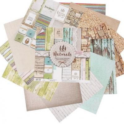 Набор бумаги Naturals, 12 листов, 30,5х30,5 см #10860