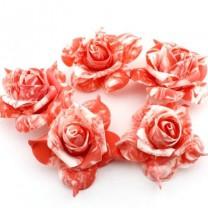 Декоративные цветы 7х7х3 см Красные #2671