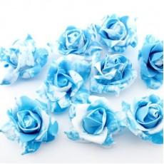 Декоративные цветы 7х7х3 см Синие #2675