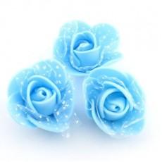 Цветы D=35 в сетке голубые #4171