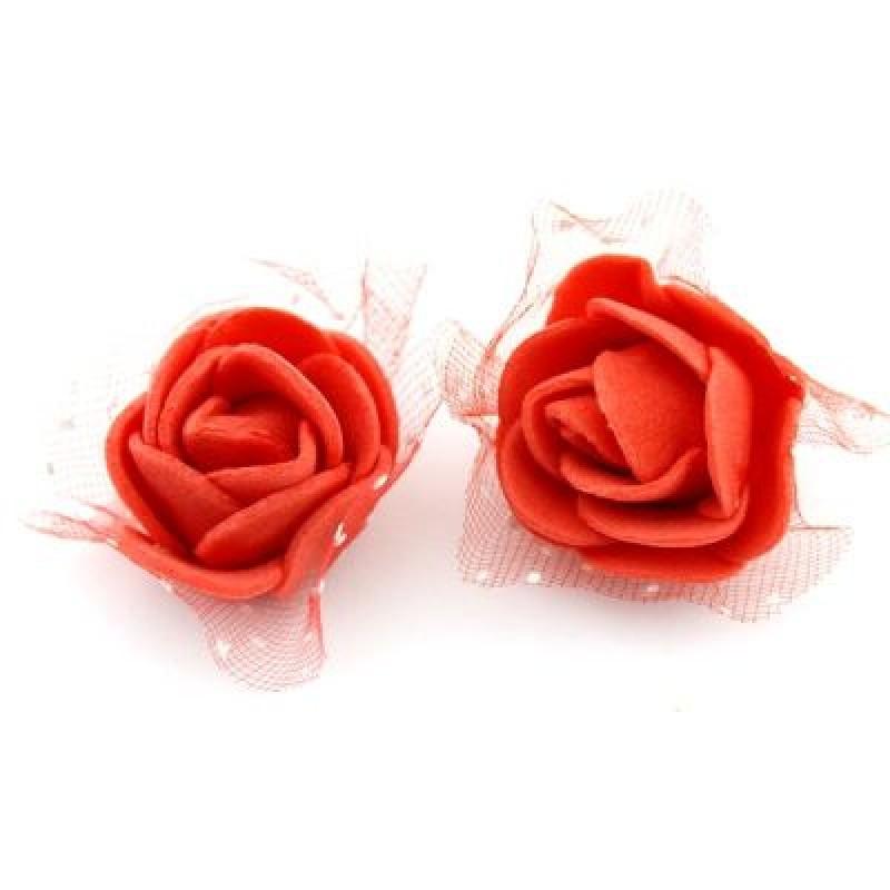 Цветы D=30 в сетке Красные #4187