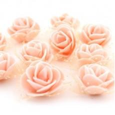 Цветы D=35 в сетке Персиковые #4188