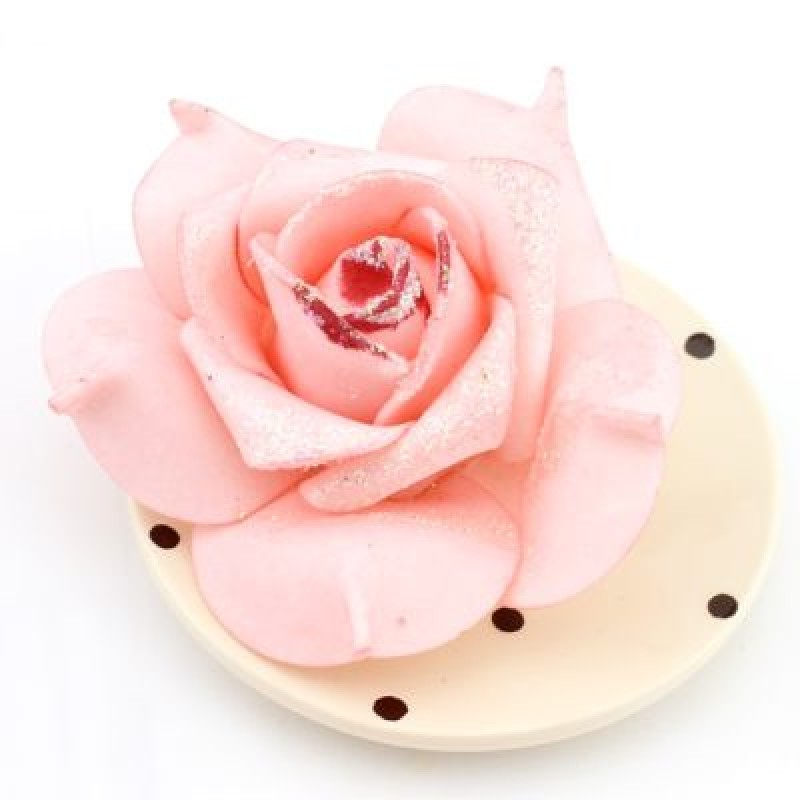 Цветы Розовые с блёстками #4693