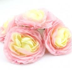 Цветы D=75 мм бело-розовые #4697