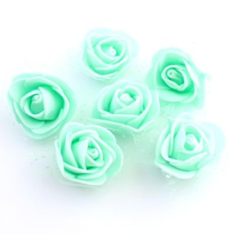 Цветы D=35 в сетке Бирюзовые #5502