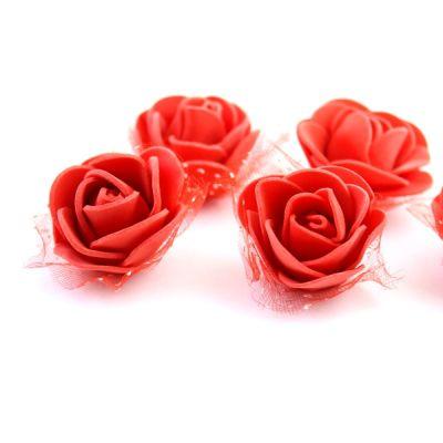 Цветы D=35 в сетке Красные #5507