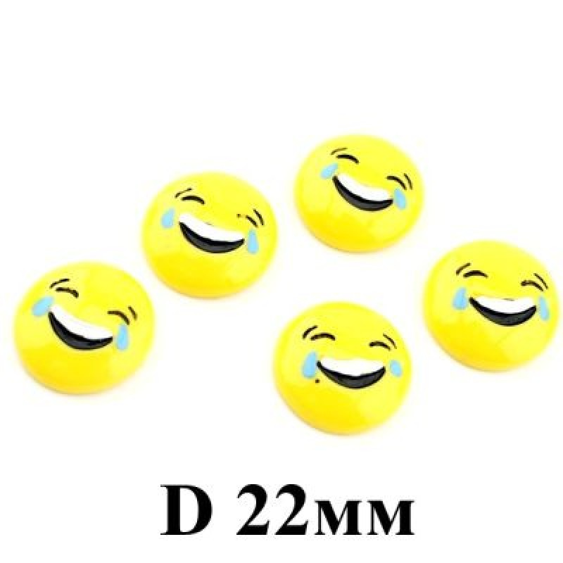 Кабошон Смайлик Смех D=22 #4120