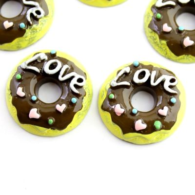 Кабошон Пончик Love #5390
