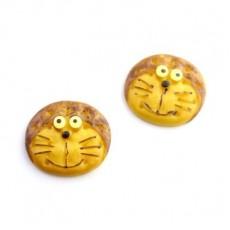 Кабошон Кот-печенька #5400