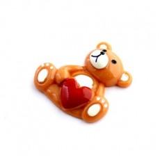 Кабошон Мишка с сердцем #5412