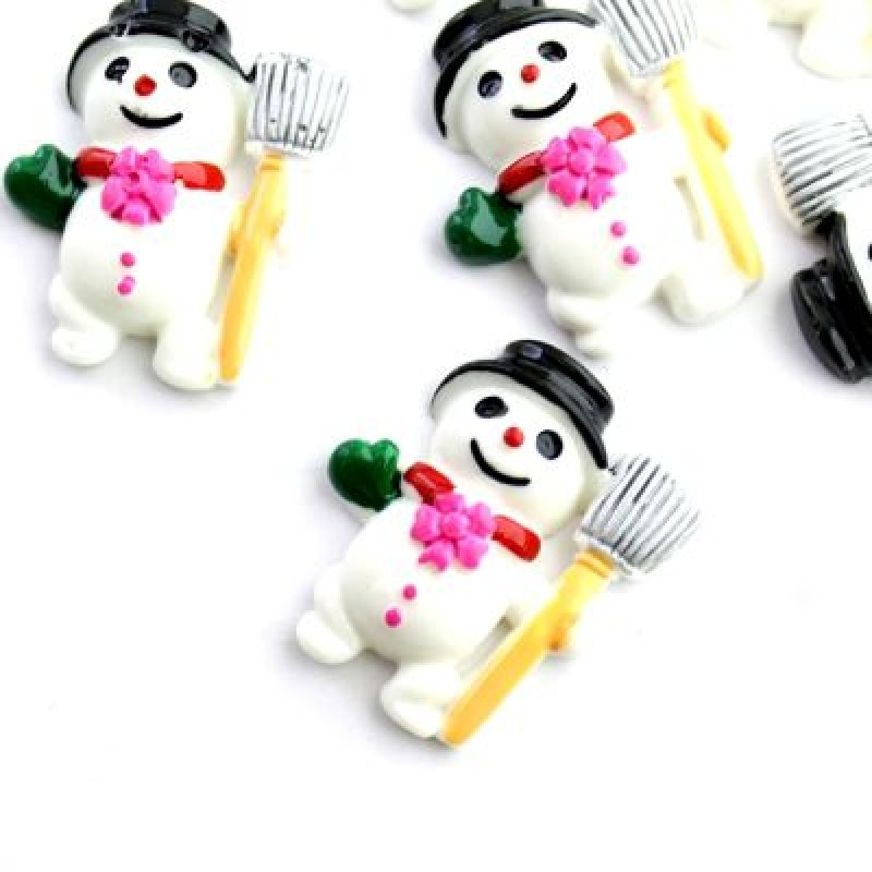 Кабошон Снеговик #5413