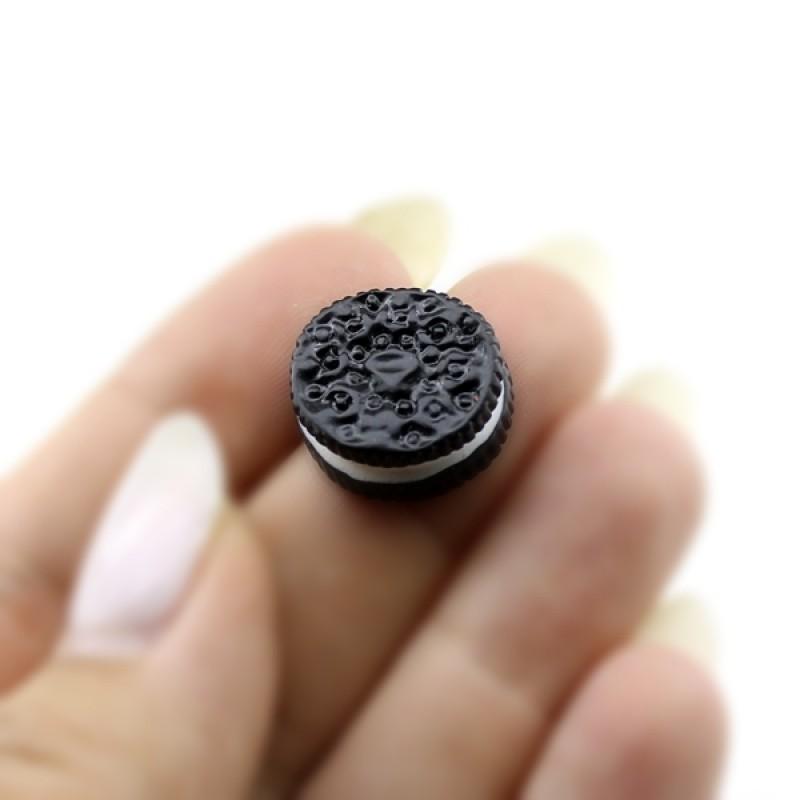 Кабошон печенька OREO черная #1231
