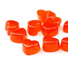 Кабошон Сердце-желе красное #5460