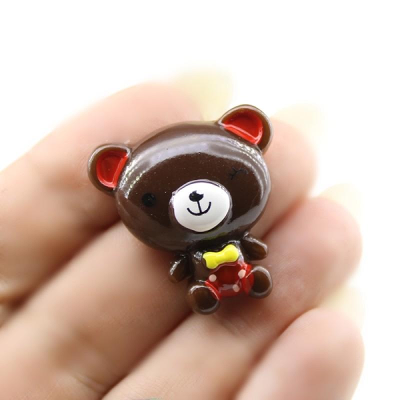 Кабошон Мишка с большой головой #5808